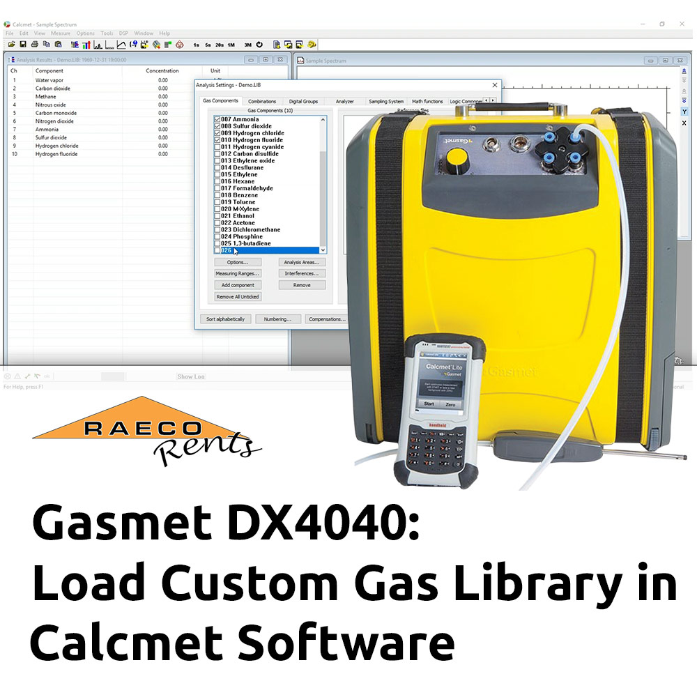 Demonstration: Load Custom Gas Library for Gasmet DX4040 Using Calcmet Software