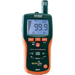 Extech MO297 Pinless Moisture Psychrometer with Infrared Thermometer