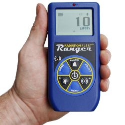 SE International Radiation Alert Ranger Handheld Geiger Counter In Hand