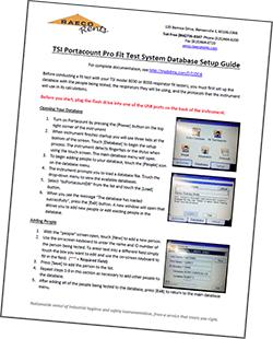 TSI PortaCount database setup guide